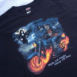 Harley Davidson Halloween T shirt